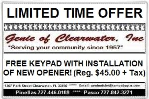Free Door Keypad with Purchase Garage Door Opener